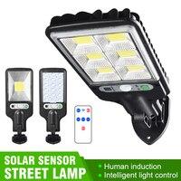 Sensor Straße Licht Solar Licht PIR Motion Sensor Garten Wand Outdoor Solar Street Lampe Wasserdichte Lampe Smart Remot Steuer Lampe