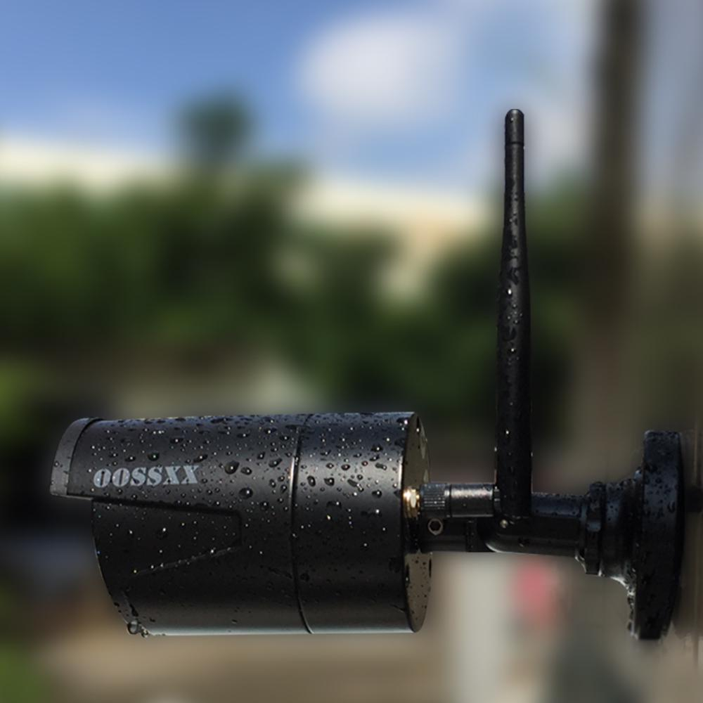 Sicherheit Kamera System Drahtlose 8CH 1080P NVR Kit 4 stücke 720P (1,0 M) outdoor Audio CCTV Drahtlose IP67 Kamera Überwachung durch OOSSXX