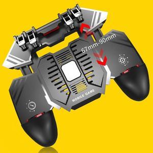 Image 4 - AK77 шесть пальцев PUBG мобильный джойстик игровой контроллер игровой коврик триггер стрельба геймпад USB зарядка Джойстики для PUBG