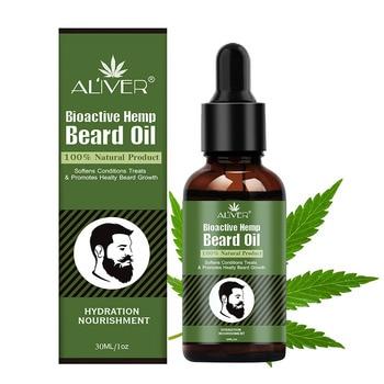 Hemp Oil Beard Growth Men's Beard Hair Growth Products Hair Conditioner Leave-In JIU55 1