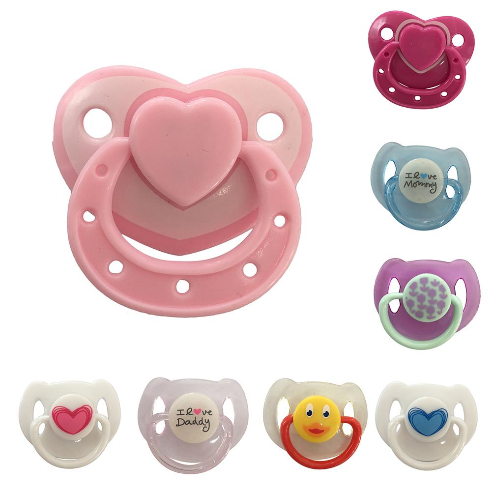Baby Doll Accessories Reborn Doll Supplies Dummy Magnetic Pacifier+Magnet For Reborn Dolls Girl