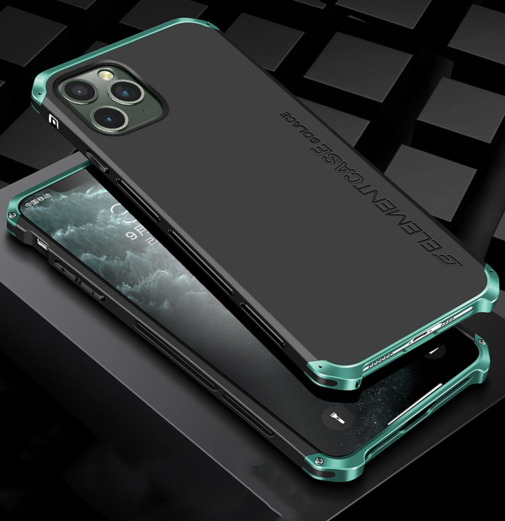 Luxury Shockproof Armor Element Metal Case For iPhone X XS XS MAX XR Cases Hard Aluminium PC Back Cover For iPhone 11 Pro Max