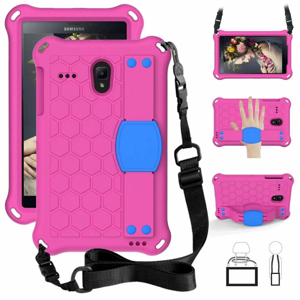 Kids Safe Shockproof Shoulder Strap Stand Cover Case For Samsung Galaxy Tab A 8.0 2017 2018 T330 T375 T377 T380 T385 T387 Case
