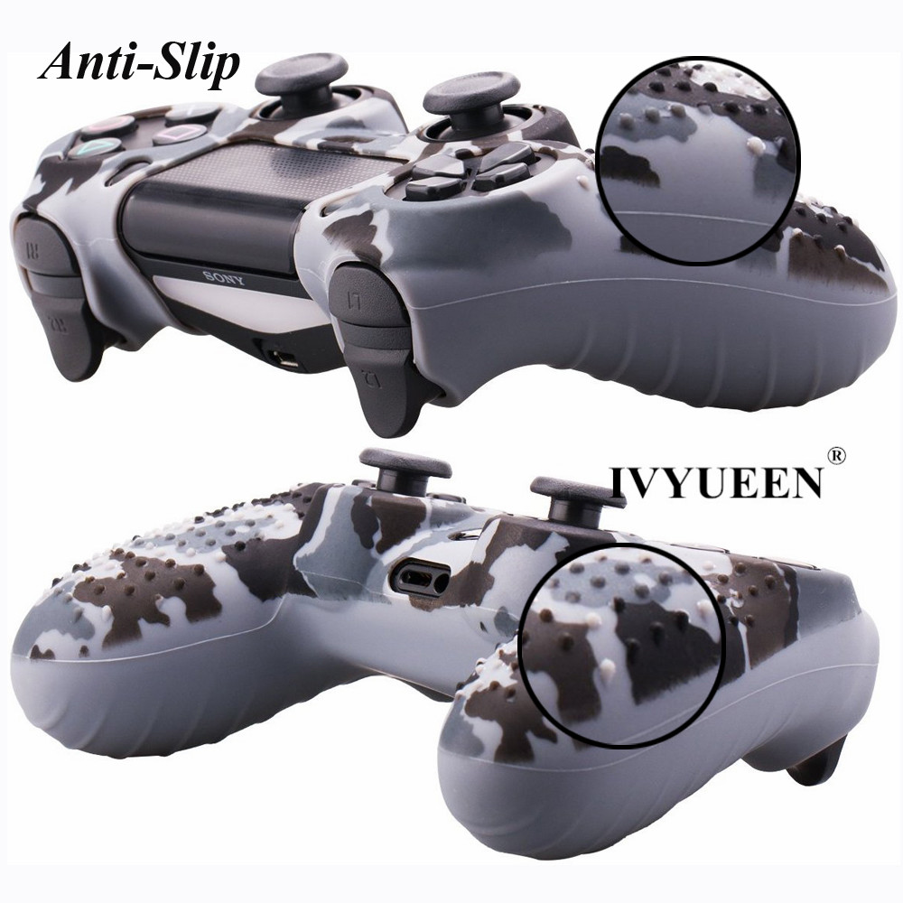 IVYUEEN 25 Colors Anti Slip Silicone Protective Skin Case For Sony PlayStation 4 PS4 DS4 Pro Slim Controller Thumb Grip Caps 4