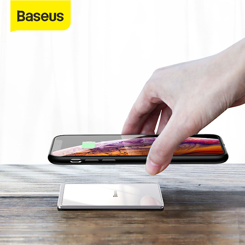 Baseus 15W Qi Fast Wireless Charger Waterproof Wireless Charging Pad For iPhone 8 X XS XR Galaxy S9 Fast Charger