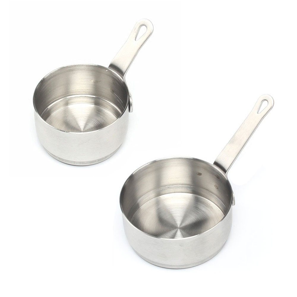 50/100ml Stainless Steel Seasoning Handle Dipping Sauce Bowl Restaurant Table Sauce Dish Kitchen Measuring Cup Supplies