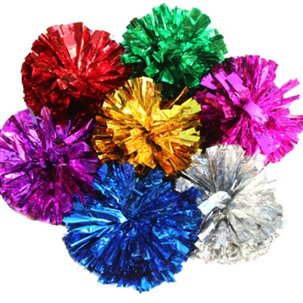 Competition Cheerleading Flower Ball Light Up Party Fancy Pom Poms Modish Cheer Dance Soccer Basketball Tennis Match Sports