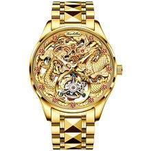 OUPINKE Men Mechanical Watches Top Brand Luxury Gold Tourbillon Watch Sapphire Waterproof Skeleton Wristwatch Relogio Masculino