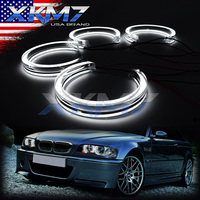 Angel Eyes LED Switchback Halo Running Lights DTM For BMW 3 E46 E39 E36 E38 Xenon Halogen Lens Headlight Retrofit Accessories