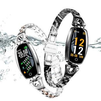 H8 Smart Watch Women  Waterproof Blood Pressure Heart Rate Monitoring  Pedometer Bluetooth For Android IOS Fitness Bracelet women smart watch sports fitness tracker blood pressure heart rate monitoring waterproof pedometer men smart watch ios android