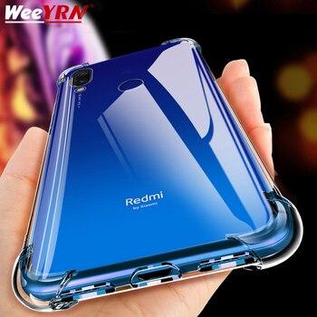 Coque de téléphone en Silicone antichoc de luxe pour Xiaomi Redmi note 8 7 5 Pro Redmi 7A Xiaomi mi 9t 9 A3 housse de Protection transparente