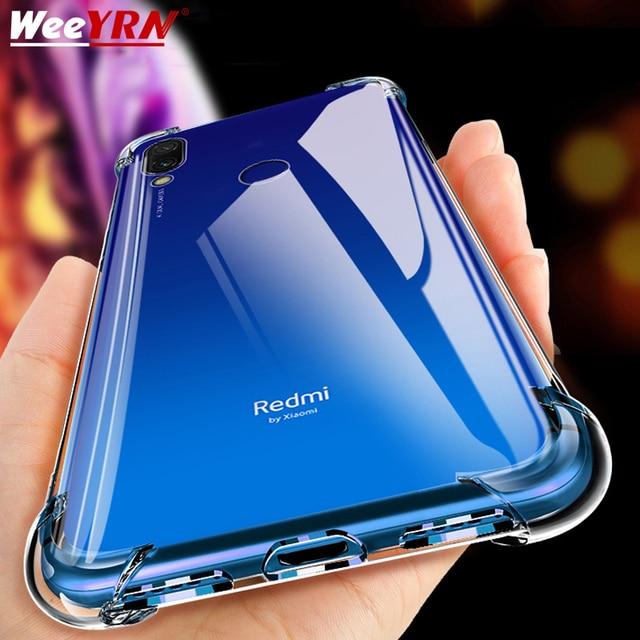 Coque de téléphone en Silicone antichoc de luxe pour Xiaomi Redmi note 8 7 5 Pro Redmi 7A Xiaomi mi 9t 9 A3 housse de Protection transparente 1