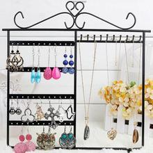 цена jewelry organizer Fashion Jewelry Rack Display Storage Hanging Holder Earring Necklaces Organizer rangement bijoux/jewellery box онлайн в 2017 году