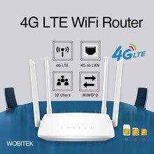 3g 4g roteador desbloqueado lte cpe sem fio 300mbps com slot para cartão sim antena externa lan porto hotspot 32 usuários wi-fi para câmera ip