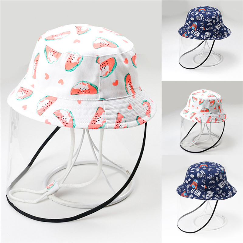 New Anti-spitting Protective Hat Dustproof Cover Kids Fisherman Cap Effectively isolates saliva carrying viruses In stock @3(China)