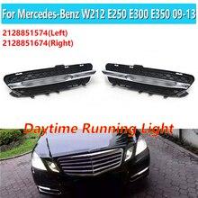 2128851574 2128851674 1 пара подходит для Mercedes-Benz W212 E250 E300 E350 2009-2013 светодиодный льные светодиодные дневные ходовые огни DRL Противотуманные фары