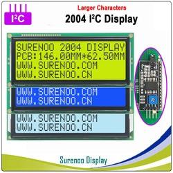 Серийный IIC/igc/TWI 2004 204 20*4 большой символ ЖК-модуль дисплей желтый зеленый синий FSTN с подсветкой для Arduino