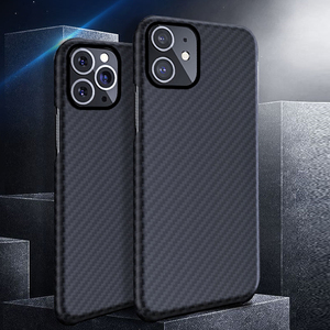 Image 1 - 0.7mm Ultra Thin יוקרה סיבי פחמן דפוס עבור iPhone 11 פרו מקסימום מקרה כיסוי ארמיד סיבי מקרה עבור iPhone 11Pro XS Max XR X