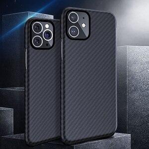Image 1 - 0.7mm Ultra mince modèle de Fiber de carbone de luxe pour iPhone 11 Pro Max housse de protection en Fiber daramide étui pour iPhone 11Pro XS Max XR X