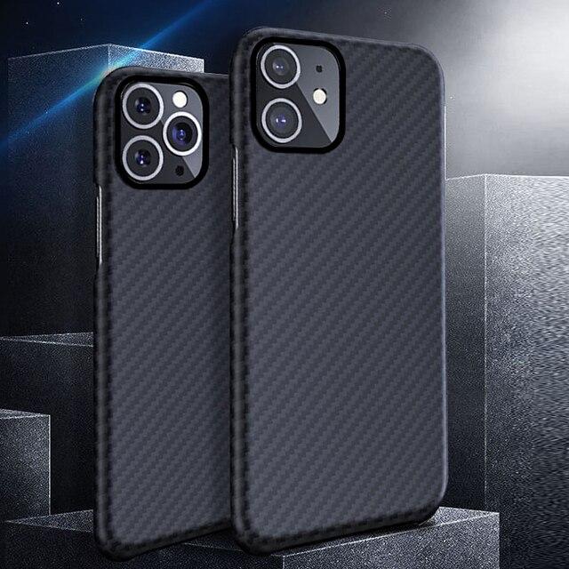 0.7mm Ultra mince modèle de Fiber de carbone de luxe pour iPhone 11 Pro Max housse de protection en Fiber daramide étui pour iPhone 11Pro XS Max XR X