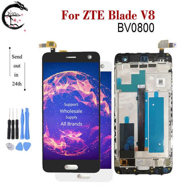 Полный ЖК дисплей для ZTE Blade V8, ЖК дисплей BV0800, экран с рамкой, сенсорный датчик, дигитайзер в сборе для ZTE V8 V 8, дисплей AAAquality