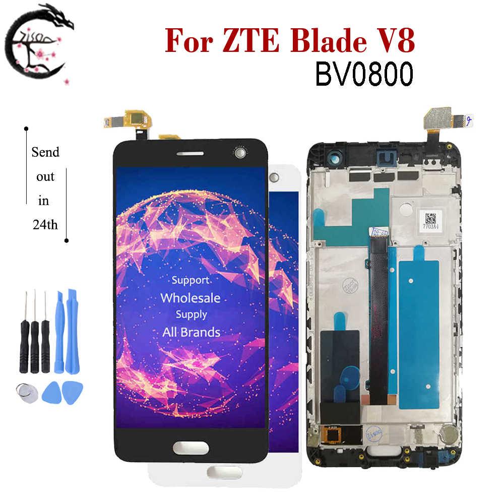 Полный ЖК дисплей для ZTE Blade V8 LCD BV0800 дисплей экран с рамкой сенсорный датчик дигитайзер сборка для ZTE V8 V 8 дисплей AAAqualityЭкраны для мобильных телефонов   -