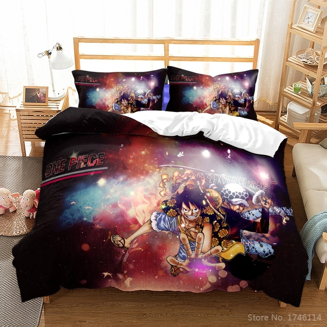 ONE PIECE THEMED 3D BEDDING SET (7 VARIAN)
