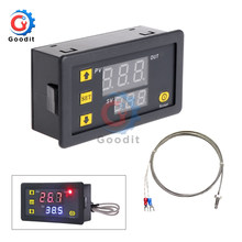 Termostato alto do interruptor de controle da alta temperatura do diodo emissor de luz de digitas k-tipo termopar do termómetro da c.c. 5v 12v 24v ac 200v-60 ~ 500 digital
