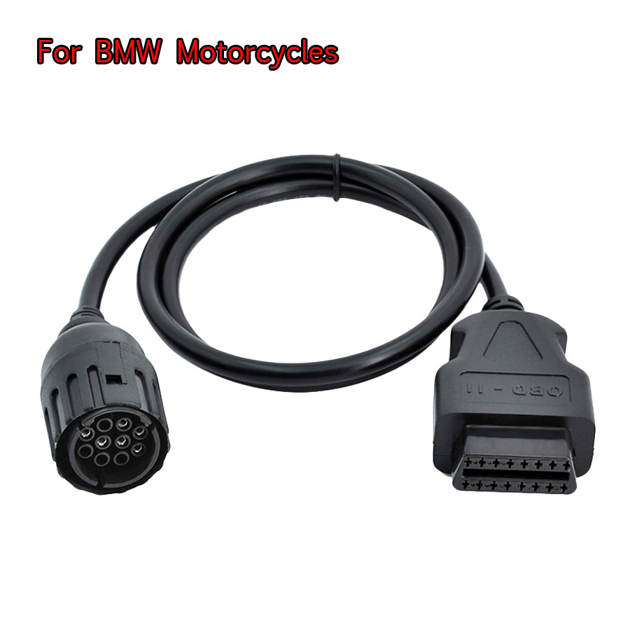 ICOM D Cable For BMW Motorcycles Motorbike Diagnostic Cable 10 Pin To OBD 16 Pin Adapter