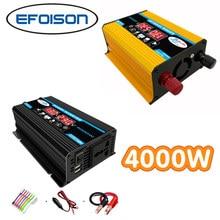 Car Power Inverter 4000W 12V to 230V Converter for Home Power Phone Charger Laptop Charging Emergency Power