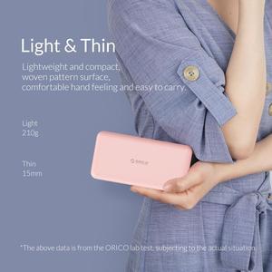 ORICO 10000 мА/ч внешний аккумулятор для путешествий, тонкий внешний аккумулятор usb type C, внешний аккумулятор для телефона, портативное зарядное устройство для Xiaomi