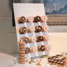 Support mural réutilisable pour Donuts, planche pour exposer 16 Donuts, décoration de fête pour le Dessert, fournitures de Table