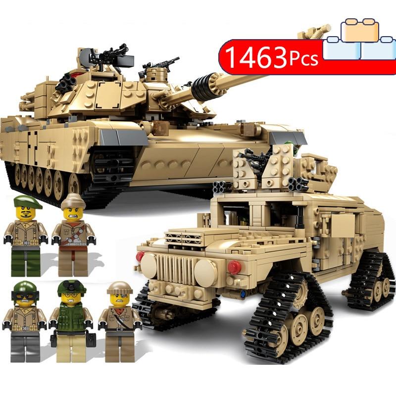 Lepining world war ii series M1A2 German military tank 2 scene man wehrmacht battlefield model boy building blocks assembled toy