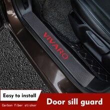 4ピース/セット炭素繊維車のドア敷居保護オペルvivaroのための車のステッカー自動車の付属品