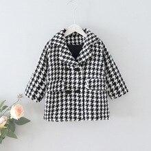 Gooporson Fall Kids Clothes Fashion Korean Little Girls Jacket Coats Toddler Warm Woollen Overcoat Toddler Children Outwear