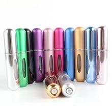 Garrafa cosmética vazia do atomizador do pulverizador dos recipientes para o curso nova garrafa recarregável portátil do perfume de 5ml mini com bomba do perfume do pulverizador