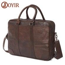 JOYIR 비즈니스 서류 가방 정품 가죽 남자 가방 컴퓨터 노트북 핸드백 남자 어깨 가방 메신저 가방 남자의 사무실 핸드백