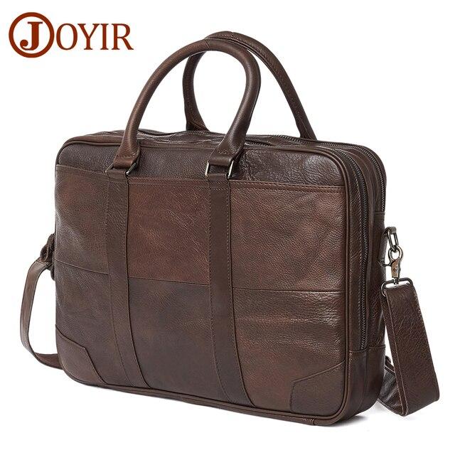 JOYIR حقيبة أعمال جلد أصلي للرجال حقيبة كمبيوتر حقيبة يد للحاسوب المحمول رجل حقيبة كتف حقيبة ساع الرجال مكتب حقيبة يد