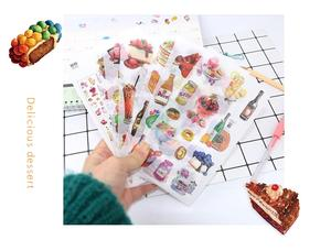Funny Sticker Toys Book Pack Diary Animal Food Girl Children Classic Cartoon Plant
