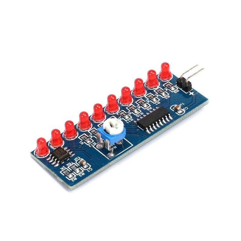 NE555 + CD4017 бег светодиодный поток светодиодный светильник электронный производственный комплект DIY Kit