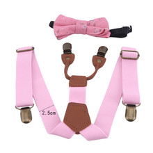Suspenders Children Belt Braces Bowtie-Set Baby-Boys-Girls Kids Bow-Tie Y-Back Adjustable