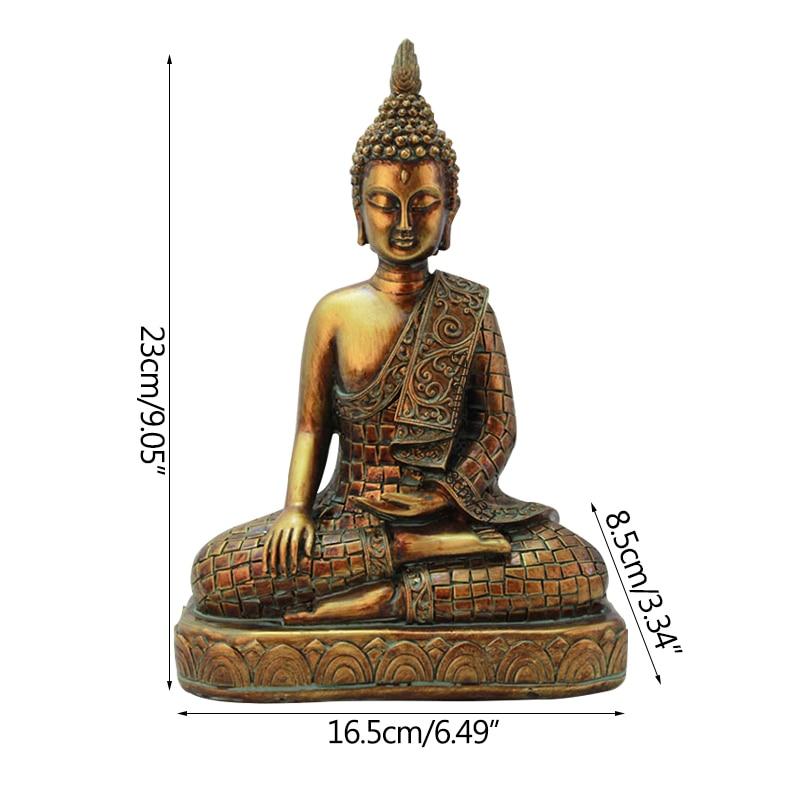 Strongwell Resin Imitation Copper Buddhism Bodhisattva Sakyamuni Buddha Statue Buddha Sculpture Buddha Head Resin Craft Decor in Statues Sculptures from Home Garden