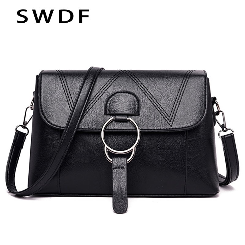 Fashion Luxury Solid Shoulder Bags Shoulder Bag Soft PU Leather Shoulder Bags Small Black Striped Weave Pattern Messenger Bags