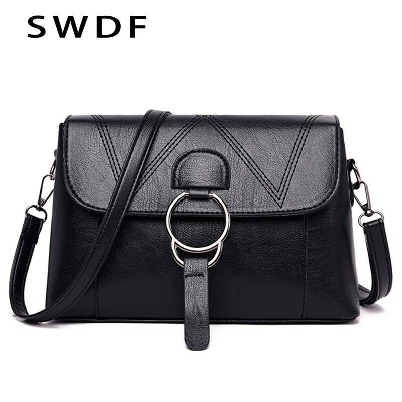 Fashion Luxury Solid Shoulder Bags Shoulder Bag Soft PU Leather Shoulder Bags Small Black Striped Weave Pattern Messenger Bags