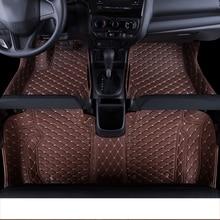 цена на lsrtw2017 leather car floor mats rug carpet for honda fit jazz 2002-2018 2004 2005 2006 2007 2008 2009 2010 interior accessories