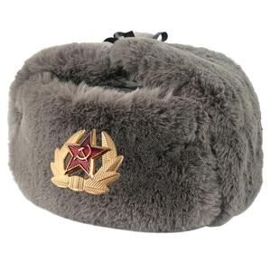 Image 2 - 2019 Haber Sonbahar Kış USSR Bombacı Şapkalar CCCP Erkekler Kadınlar Peluş Şapka Sıcak Tutmak Sovyet kap