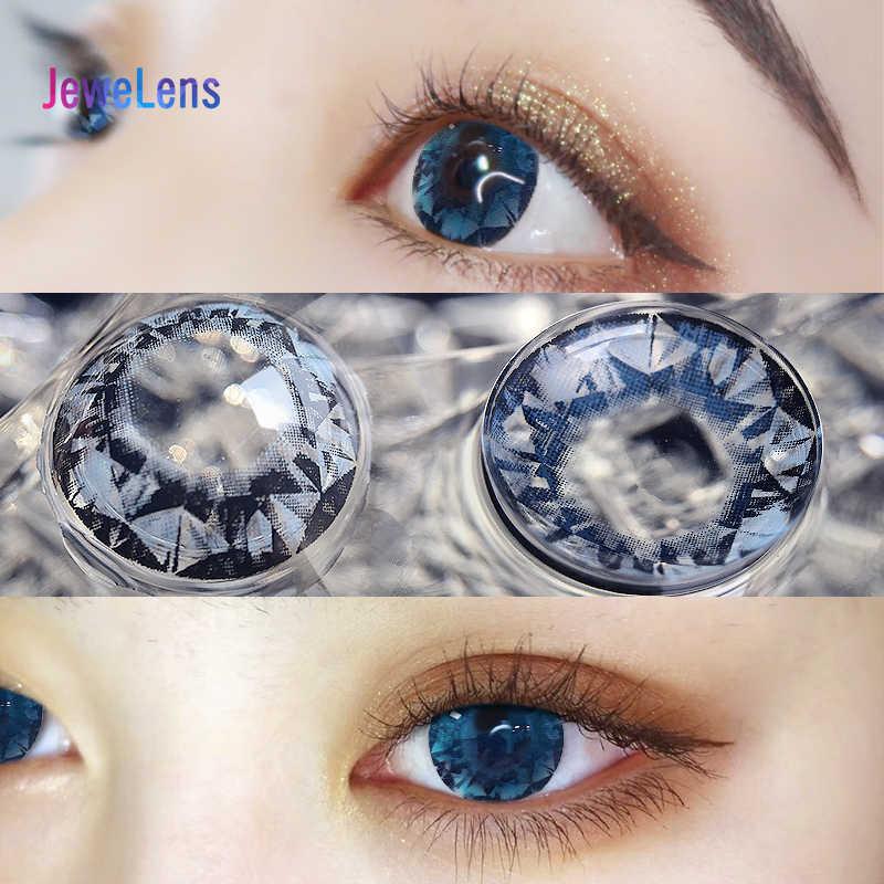 Jewelens kolorowe soczewki kontaktowe kolorowe szkła do oczu kosmetyk kolorowy Con duża średnica diamentów serii