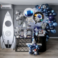 89pcs Outer Space Party Rocket Astronaut Foil Balloons Galaxy Theme Party Boy Birthday Party Decoration Air Globals Kids Favor