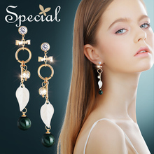 Special Vintage Big Stud Earrings Waterdrop Gold Ear Pins AAA Zirconia Bohemian New Jewelry Gifts for Women S1874E