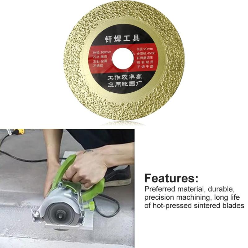 Diamond Grinding Wheel Saw Blade Multi-purpose Circular Cutting Disc Rotary Abrasive Tools For Granite Marble Tile Ceramic
